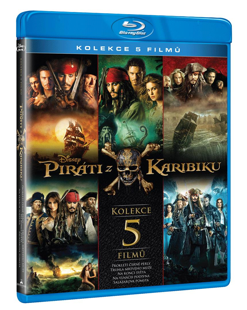 Piráti z Karibiku 1-5 (Kolekce, 5x Blu-ray)