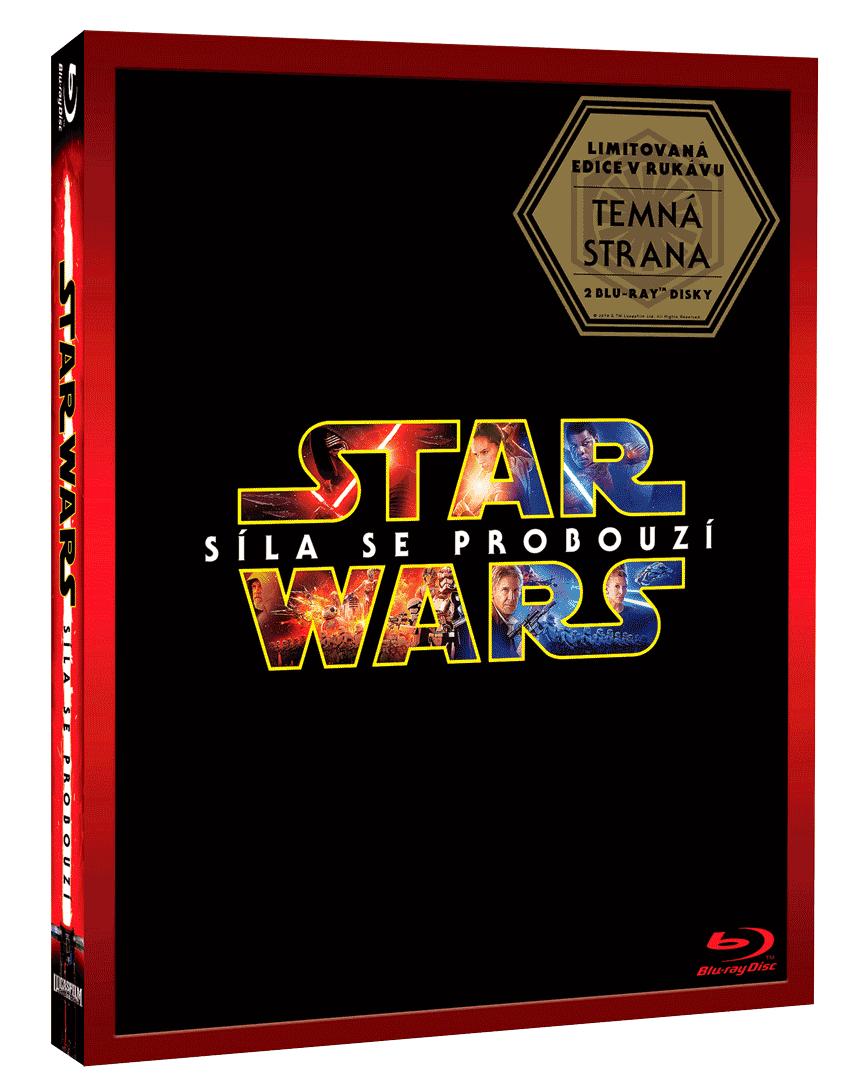 """Star Wars: Síla se probouzí (Blu-ray, rukávek """"Temná strana"""")"""