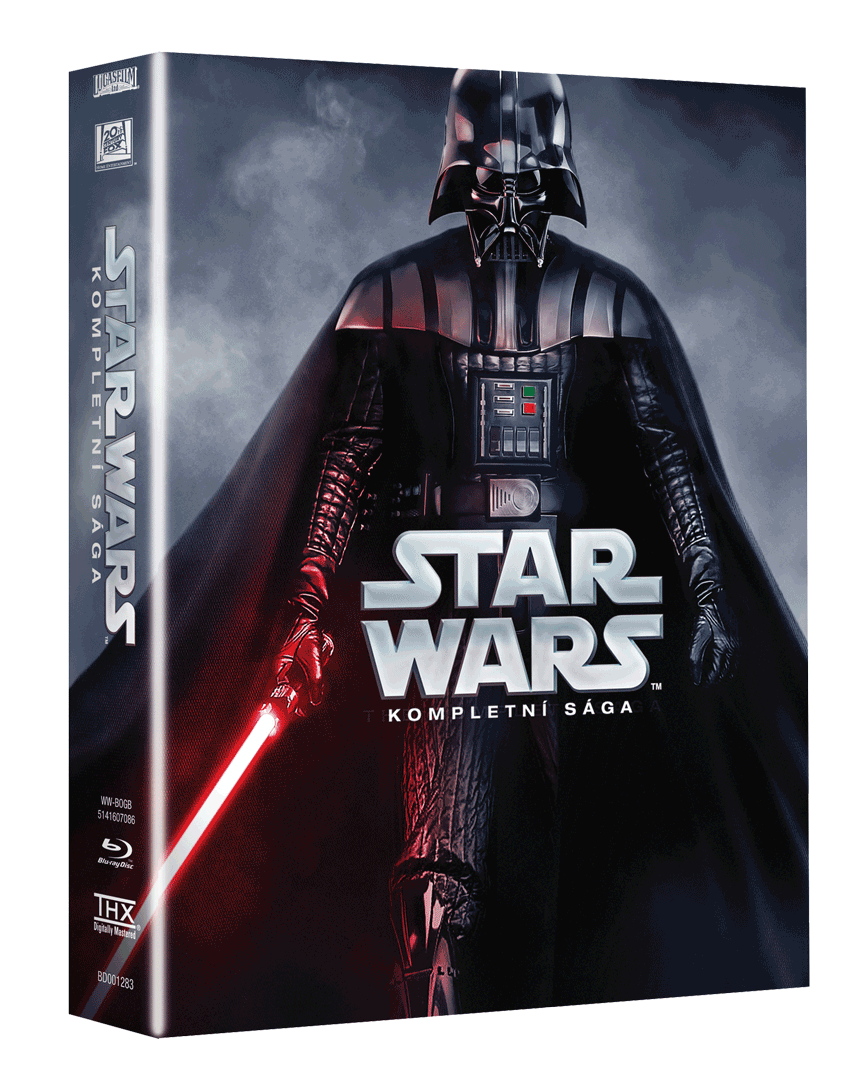 Star Wars Sága (Kolekce 1-6, 9x Blu-ray)